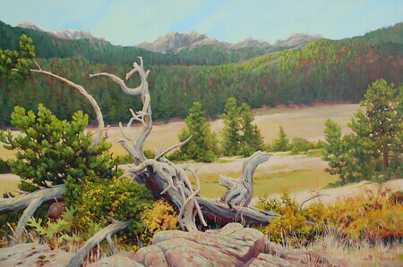"""High Country Resting Place""  24x36""  acrylic on canvas"