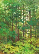 """Late Summer Green""  48x36"" acrylic on canvas"